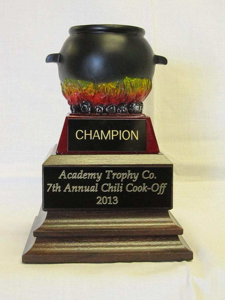 Chili Cook Off Award Trophy Prime 6 Gold Chili Pot Trophies